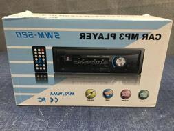 Car Stereo W Bluetooth Single Din In Dash AM FM Radio Audio