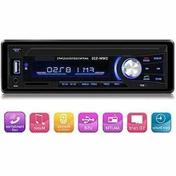 Car Stereo With Bluetooth Single Din Dash, AM FM Radio Audio