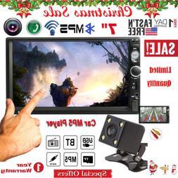 "Car Video MP5 Player 2 Din 7"" Touchscreen FM Bluetooth Radio"