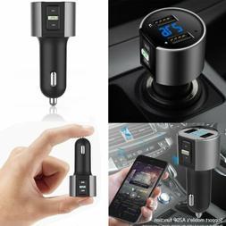 Car Wireless Bluetooth FM Transmitter Radio Adapter USB Char