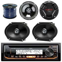 """JVC CD Bluetooth USB Car Radio 2 JVC 6""""x8"""" + 2 JVC 6""""x5"""" Spe"""