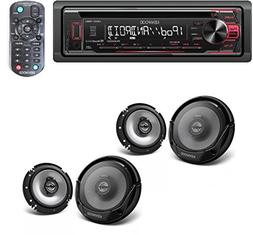 Kenwood in-Dash 1-DIN CD Car Stereo Receiver with Front USB