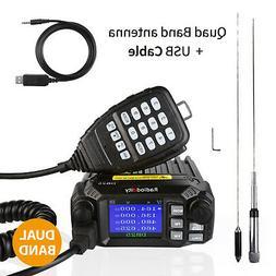Radioddity DB25 Pro Dual Band Mobile Car Radio VHF UHF 25W w