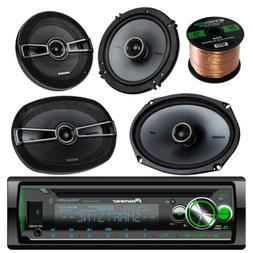 "DEHS6100BS CD Bluetooth Car Radio, Kicker 6.5"" Speakers,Kick"