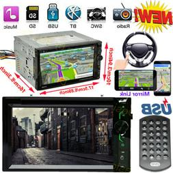 """Double 2 Din 6.2"""" Car Stereo DVD CD MP3 Player HD In Dash Bl"""