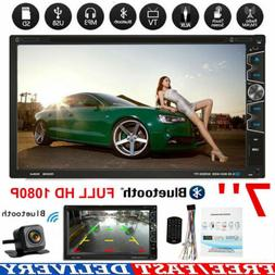 "Double 2 Din 7"" Car Stereo DVD CD MP3 Player HD In-Dash Blue"