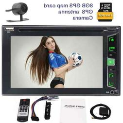 "Double 2 DIN Car Stereo 7"" HD Touch Screen DVD CD Player Blu"
