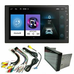 Double Android 9.1 Car Stereo Radio GPS Bluetooth 7'' Touch