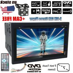 """Double Din 7""""Car Stereo DVD CD MP3 Player HD In Dash Bluetoo"""