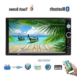 Double Din 7'' HD Car Stereo MP5 Radio Video Player Built-in