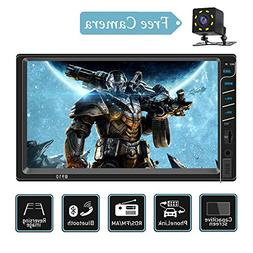 Double Din Car Stereo with Bluetooth USB/SD/AUX Input Capaci