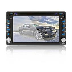 6.2 inch Double DIN Car Stereo In-Dash DVD player GPS Naviga