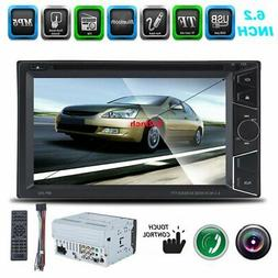 Double DIN DVD Car MP5 Player 6.2 Inch Touch Screen Steoro F