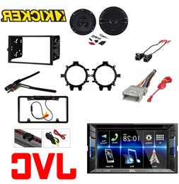 JVC Double Din DVD CD Player Car Radio Install Mount Kit Meg