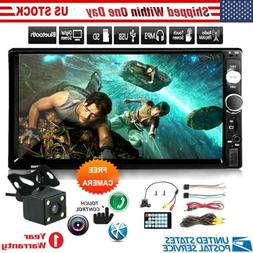 Double Din Head Unit w/ Backup Camera Touch Screen Stereo Ra