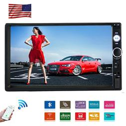 """Double Din Touch Screen 7"""" Car Stereo Radio Bluetooth Audio"""