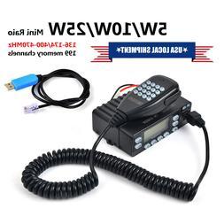 Dual Band 25W 144/430 MHz Car Mobile Radio Transceiver Mini