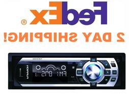 NEW DV5000 Car Stereo InDash AM/FM SD CD Player Remote Flip