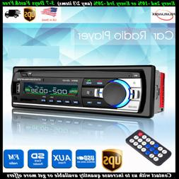 12V FM In Dash Car Stereo Radio 1 DIN SD/USB AUX Bluetooth H
