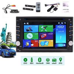 GPS Navi Double Din Car Stereo Radio DVD mp3 Player Bluetoot