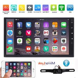 HIZPO GPS Navigation HD Double 2DIN Car Stereo DVD Player BT