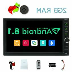 """Android 8.1 Stereo 2 DIN 7"""" Touchscreen Car Player Radio BT"""