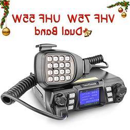 Ham Radio Transceiver VHF 75W UHF 55W Mobile Radio Dual Band
