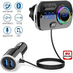 Handsfree Bluetooth FM Transmitter Wireless Radio Adapter Ca