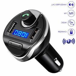 HandsFree Car Bluetooth Wireless FM Radio Adapter USB Charge
