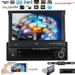 HD GPS 1Din Flip Out Car Stereo Radio DVD mp5 Player Bluetoo