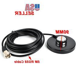 HF/UHF/VHF NMO Mount Magnetic Base For Car Taxi Mobile Radio