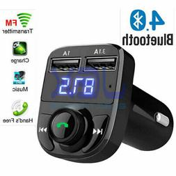 In-Car Bluetooth Hands Free MP3 Player/Phone to Radio FM Tra