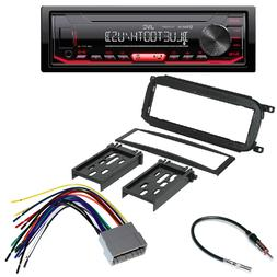JVC InDash MP3 USB Car Radio Stereo DASH KIT FOR DODGE CHRYS