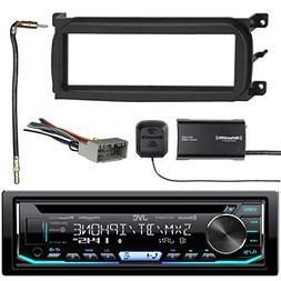 JVC 1-DIN Bluetooth CD/AM/FM Car Stereo with Sirius Radio Tu