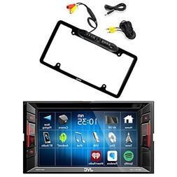 JVC Double Din Bluetooth In-Dash DVD/CD/AM/FM Car Stereo Rec