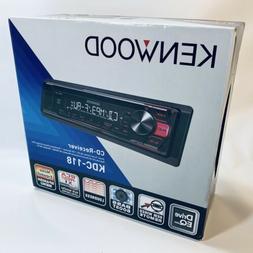 Kenwood KDC-118 Single-Din In-Dash CD Receiver w/Aux/Mp3/WMA