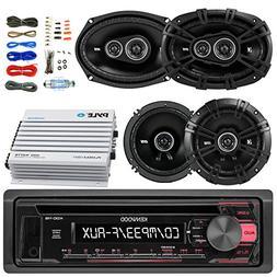 Kenwood KDC118 Car Radio  AUX CD Player Receiver - Bundle Ki