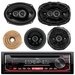 """Kicker 6.5"""" 2Way Speakers, 6x9"""" 3Way Speaker Set,Kenwood CD"""