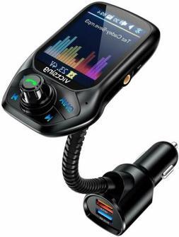 Nulaxy KM19 Wireless In-Car Bluetooth FM Transmitter Radio A