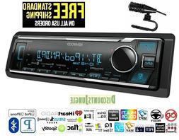 KENWOOD KMM-BT325U 1-DIN CAR USB DIGITAL MEDIA MECHLESS BLUE