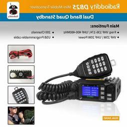 KT-8900D Dual Band VHF UHF 25 Watt Quad-Standy Car Mobile FM