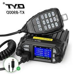 QYT KT-8900D VHF UHF 25W Quad Standby Car Mobile Radio Trans