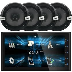 "JVC KW-V350BT Car CD Bluetooth iPod Radio Stereo, 4 x 6.5"" 3"