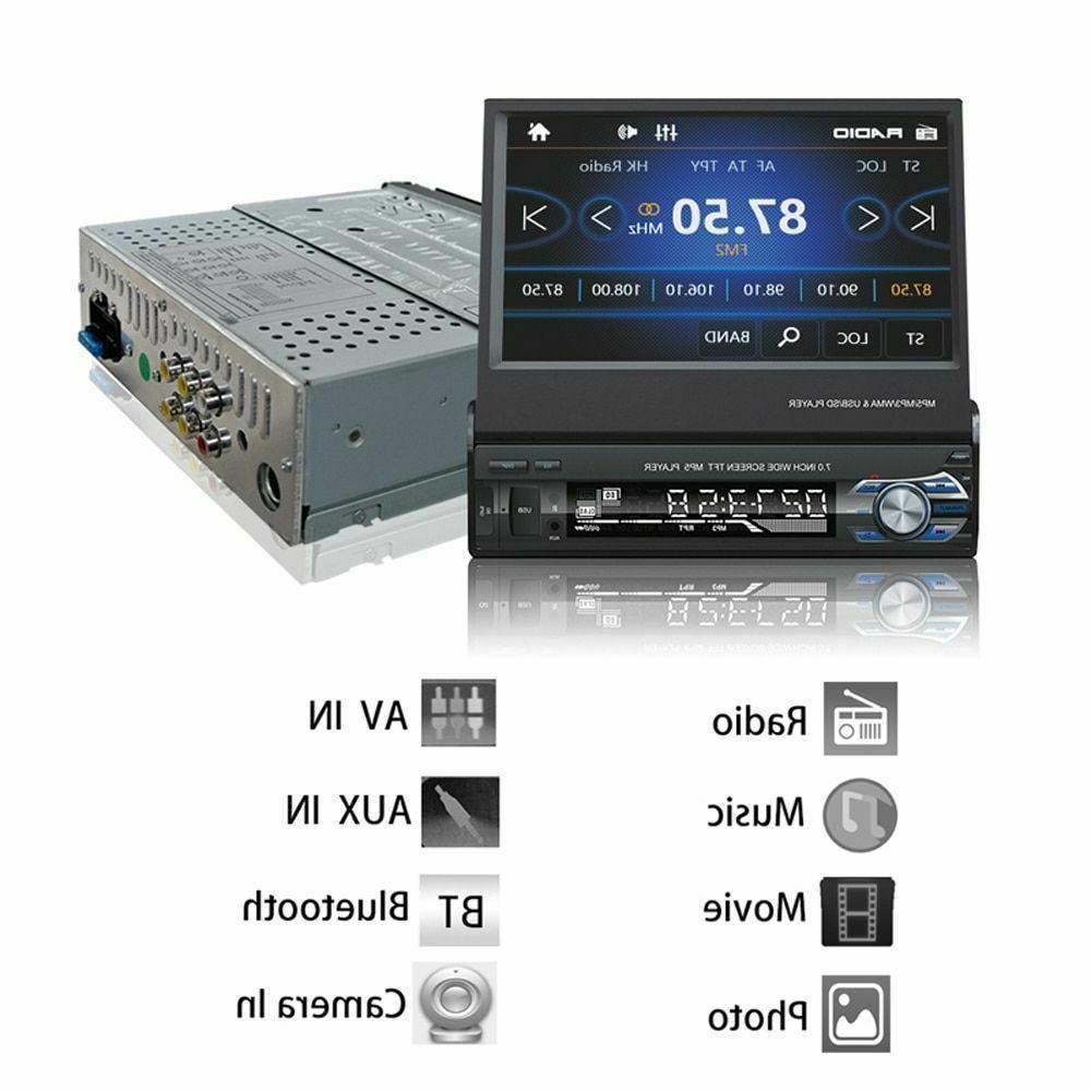 "1 Din 7"" Car Radio GPS Bluetooth Camera Auto Player MP5 Audio USB"