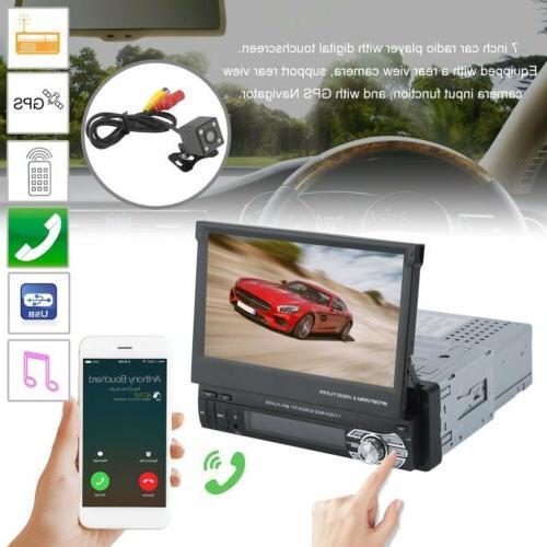 1 Din Inch Car Detachable Music Bluetooth + Cam MX