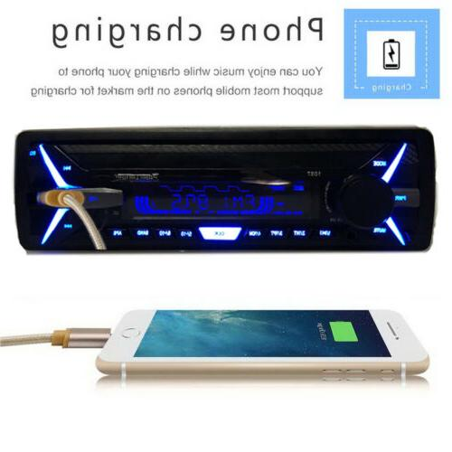 Car Detachable Bluetooth Din RDS+ AM Player Stereo