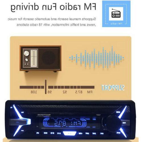 1 Radio RDS AM FM MP3 Bluetooth Detachable Panel