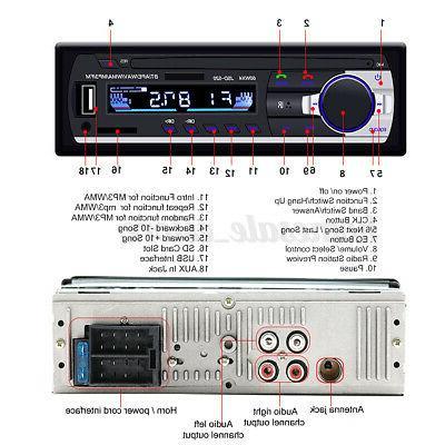 1 Din Audio Radio MP3 bluetooth FM/SD/TF USB Input