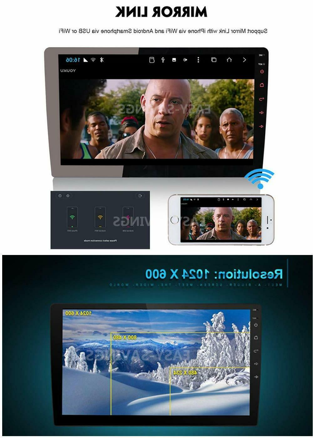 """10.1"""" Android 8.1 Double 2Din Stereo GPS Wifi Mirror Link"""