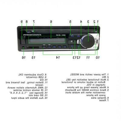 JSD-520 Dash Bluetooth Car FM Audio